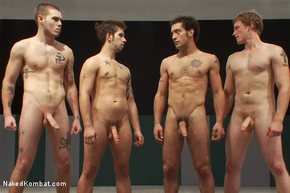 Photo number 15 from Hayden Russo & Jake Austin vs. DJ & Brandon Bangs <br> The Tag Team Match shot for Naked Kombat on Kink.com. Featuring Brandon Bangs, DJ, Jake Austin and Hayden Russo in hardcore BDSM & Fetish porn.