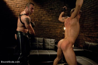 Photo number 1 from Spencer Reed and Phillip Aubrey Part One<br/>Real Life Couple Series shot for Bound Gods on Kink.com. Featuring Spencer Reed and Phillip Aubrey in hardcore BDSM & Fetish porn.