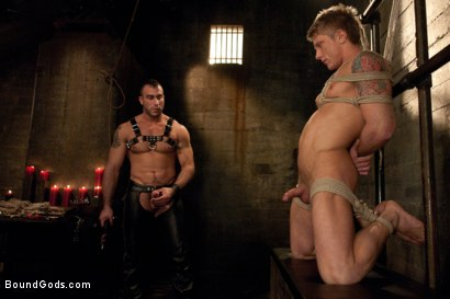 Photo number 3 from Spencer Reed and Phillip Aubrey Part One<br/>Real Life Couple Series shot for Bound Gods on Kink.com. Featuring Spencer Reed and Phillip Aubrey in hardcore BDSM & Fetish porn.