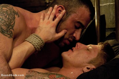 Photo number 12 from Spencer Reed and Phillip Aubrey Part One<br/>Real Life Couple Series shot for Bound Gods on Kink.com. Featuring Spencer Reed and Phillip Aubrey in hardcore BDSM & Fetish porn.