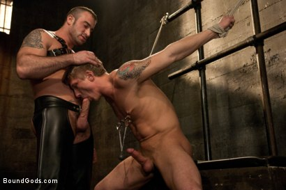 Photo number 4 from Spencer Reed and Phillip Aubrey Part One<br/>Real Life Couple Series shot for Bound Gods on Kink.com. Featuring Spencer Reed and Phillip Aubrey in hardcore BDSM & Fetish porn.