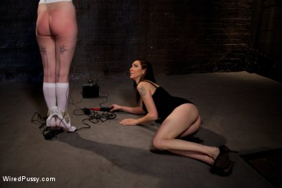 Photo number 3 from Cute Local Model Cums Hard from Electricity Pulsing Through her Clit shot for Wired Pussy on Kink.com. Featuring Sloane Soleil and Princess Donna Dolore in hardcore BDSM & Fetish porn.