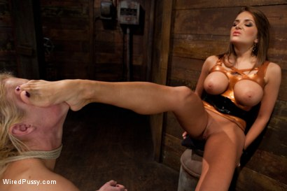 Photo number 7 from Tall, Blonde, and Beautiful shot for Wired Pussy on Kink.com. Featuring Victoria White  and Nika Noire in hardcore BDSM & Fetish porn.