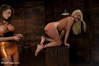 Photo number 2 from Tall, Blonde, and Beautiful shot for Wired Pussy on Kink.com. Featuring Victoria White  and Nika Noire in hardcore BDSM & Fetish porn.