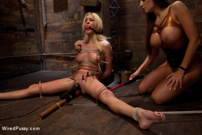Photo number 5 from Tall, Blonde, and Beautiful shot for Wired Pussy on Kink.com. Featuring Victoria White  and Nika Noire in hardcore BDSM & Fetish porn.