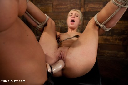 Photo number 13 from Tall, Blonde, and Beautiful shot for Wired Pussy on Kink.com. Featuring Victoria White  and Nika Noire in hardcore BDSM & Fetish porn.