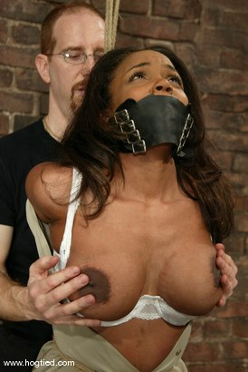 Photo number 1 from Sinnamon Love and Harry the Goblin shot for Hogtied on Kink.com. Featuring Sinnamon Love and Harry the Goblin in hardcore BDSM & Fetish porn.