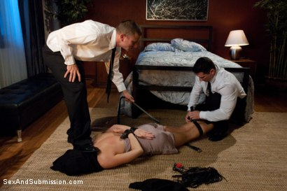 Photo number 4 from Fantasy Squad shot for Sex And Submission on Kink.com. Featuring Chanel Preston, Mr. Pete and John Strong in hardcore BDSM & Fetish porn.