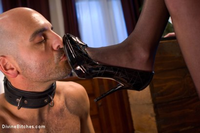 Photo number 4 from She Maid Him Do It shot for Divine Bitches on Kink.com. Featuring January Seraph and Adam Russo in hardcore BDSM & Fetish porn.