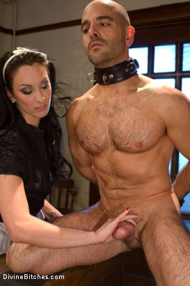 Photo number 12 from She Maid Him Do It shot for Divine Bitches on Kink.com. Featuring January Seraph and Adam Russo in hardcore BDSM & Fetish porn.
