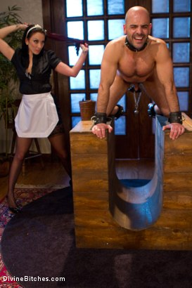 Photo number 2 from She Maid Him Do It shot for Divine Bitches on Kink.com. Featuring January Seraph and Adam Russo in hardcore BDSM & Fetish porn.