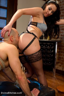 Photo number 13 from She Maid Him Do It shot for Divine Bitches on Kink.com. Featuring January Seraph and Adam Russo in hardcore BDSM & Fetish porn.