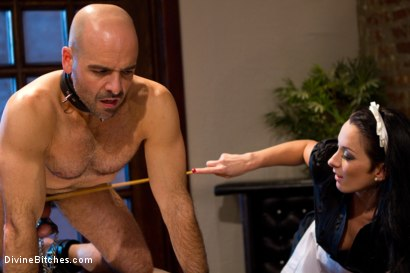 Photo number 9 from She Maid Him Do It shot for Divine Bitches on Kink.com. Featuring January Seraph and Adam Russo in hardcore BDSM & Fetish porn.