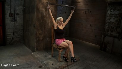 "Photo number 1 from Hot 19yr Blond with huge natural ""F"" breasts<br>This is her first ever hardcore bondage shoot. shot for Hogtied on Kink.com. Featuring Haley Cummings in hardcore BDSM & Fetish porn."