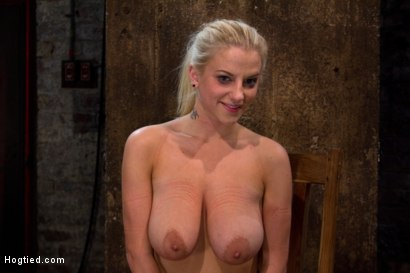 """Photo number 3 from 19yr old blond with huge """"F"""" size breasts  is made to cum over & over. Suffers horrific bondage! shot for Hogtied on Kink.com. Featuring Haley Cummings in hardcore BDSM & Fetish porn."""