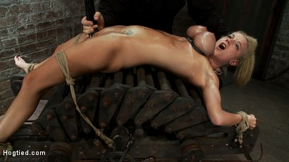 Photo number 11 from 19yr orgasmed past the breaking point.<br>Can someone be orgasmed to insanity? We almost found out! shot for Hogtied on Kink.com. Featuring Haley Cummings in hardcore BDSM & Fetish porn.