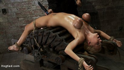Photo number 7 from 19yr orgasmed past the breaking point.<br>Can someone be orgasmed to insanity? We almost found out! shot for Hogtied on Kink.com. Featuring Haley Cummings in hardcore BDSM & Fetish porn.