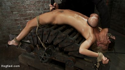 Photo number 9 from 19yr orgasmed past the breaking point.<br>Can someone be orgasmed to insanity? We almost found out! shot for Hogtied on Kink.com. Featuring Haley Cummings in hardcore BDSM & Fetish porn.