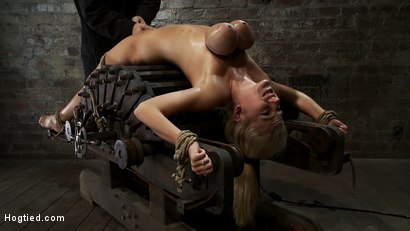 Photo number 13 from 19yr orgasmed past the breaking point.<br>Can someone be orgasmed to insanity? We almost found out! shot for Hogtied on Kink.com. Featuring Haley Cummings in hardcore BDSM & Fetish porn.