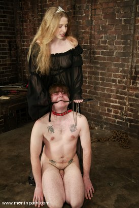 Photo number 3 from Princess Kali and Neil shot for Men In Pain on Kink.com. Featuring Princess Kali and Neil in hardcore BDSM & Fetish porn.