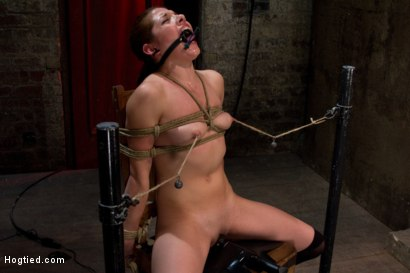 Photo number 1 from Cute girl next door is turned into a<br>helpless, drooling, mess of a slut, can't stop from cumming. shot for Hogtied on Kink.com. Featuring Evilyn Fierce in hardcore BDSM & Fetish porn.