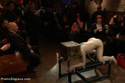 Photo number 4 from Beautiful Brunette Reduced to a Three Holed Whore shot for Public Disgrace on Kink.com. Featuring Mr. Pete, Cheyenne Jewel and Princess Donna Dolore in hardcore BDSM & Fetish porn.