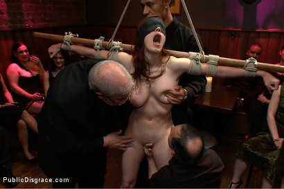 Photo number 12 from Hot 19 Year old Slut Does her First Boy/Girl Shoot EVER! shot for Public Disgrace on Kink.com. Featuring Iona Grace, Mr. Pete and Princess Donna Dolore in hardcore BDSM & Fetish porn.