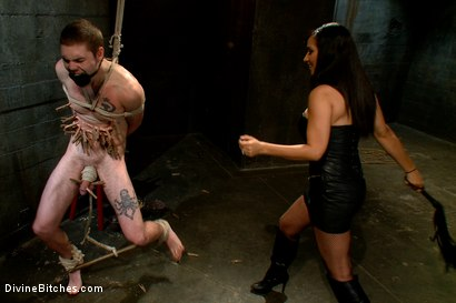 Photo number 4 from Ode to MenInPain.com! shot for Divine Bitches on Kink.com. Featuring Isis Love and Hayden Russo in hardcore BDSM & Fetish porn.
