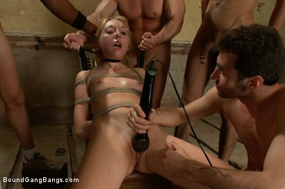 Photo number 13 from Pom Pom Girl gets Gang Banged by Basketball Coach and Team shot for Bound Gang Bangs on Kink.com. Featuring Emma Haize in hardcore BDSM & Fetish porn.