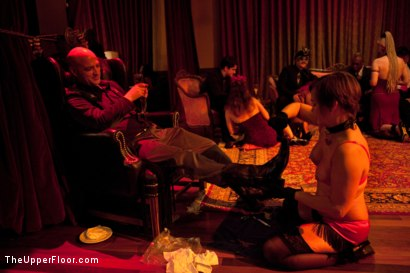 Photo number 3 from Stefanos' Brunch shot for The Upper Floor on Kink.com. Featuring Maestro Stefanos and Nerine Mechanique in hardcore BDSM & Fetish porn.