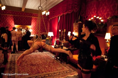 Photo number 14 from The Yule Log shot for The Upper Floor on Kink.com. Featuring Zak Tyler, Elise Graves and Iona Grace in hardcore BDSM & Fetish porn.