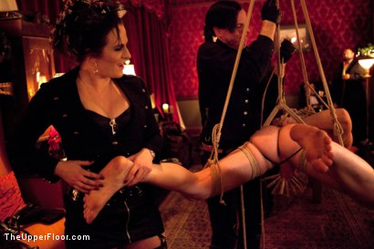 Photo number 16 from The Yule Log shot for The Upper Floor on Kink.com. Featuring Zak Tyler, Elise Graves and Iona Grace in hardcore BDSM & Fetish porn.