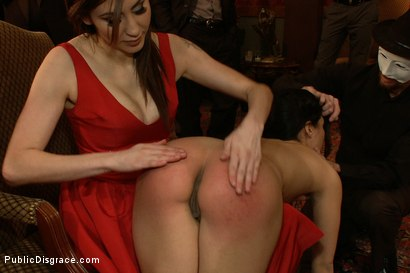 Photo number 2 from Princess Donna's B-Day Bash shot for Public Disgrace on Kink.com. Featuring James Deen, Miss Jade Indica and Princess Donna Dolore in hardcore BDSM & Fetish porn.