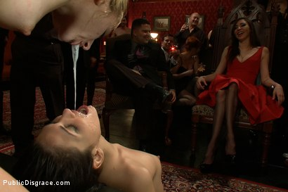 Photo number 14 from Princess Donna's B-Day Bash shot for Public Disgrace on Kink.com. Featuring James Deen, Miss Jade Indica and Princess Donna Dolore in hardcore BDSM & Fetish porn.