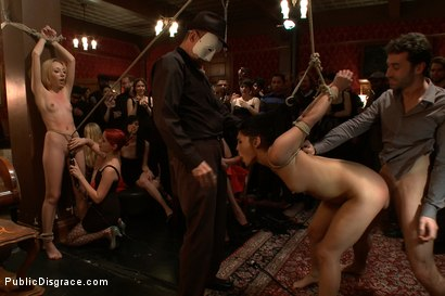 Photo number 4 from Princess Donna's B-Day Bash shot for Public Disgrace on Kink.com. Featuring James Deen, Miss Jade Indica and Princess Donna Dolore in hardcore BDSM & Fetish porn.