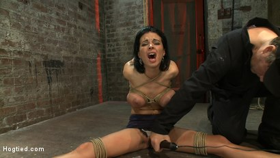 Photo number 9 from A pussy that swells up when you make it cum & cum & cum.<br>Suffering never looked so beautiful. shot for Hogtied on Kink.com. Featuring Bailey Brooks in hardcore BDSM & Fetish porn.