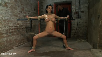 Photo number 1 from Sexy thin girl with huge boobs has massive orgasms<br>while neck rope slowly chokes her almost out. shot for Hogtied on Kink.com. Featuring Bailey Brooks in hardcore BDSM & Fetish porn.