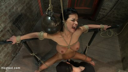 Photo number 11 from Sexy thin girl with huge boobs has massive orgasms<br>while neck rope slowly chokes her almost out. shot for Hogtied on Kink.com. Featuring Bailey Brooks in hardcore BDSM & Fetish porn.
