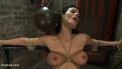 Photo number 12 from Sexy thin girl with huge boobs has massive orgasms<br>while neck rope slowly chokes her almost out. shot for Hogtied on Kink.com. Featuring Bailey Brooks in hardcore BDSM & Fetish porn.
