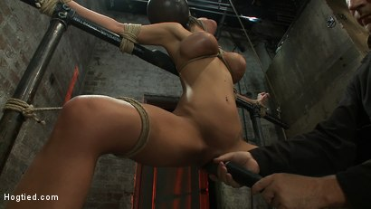 Photo number 10 from Sexy thin girl with huge boobs has massive orgasms<br>while neck rope slowly chokes her almost out. shot for Hogtied on Kink.com. Featuring Bailey Brooks in hardcore BDSM & Fetish porn.