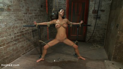Photo number 13 from Sexy thin girl with huge boobs has massive orgasms<br>while neck rope slowly chokes her almost out. shot for Hogtied on Kink.com. Featuring Bailey Brooks in hardcore BDSM & Fetish porn.