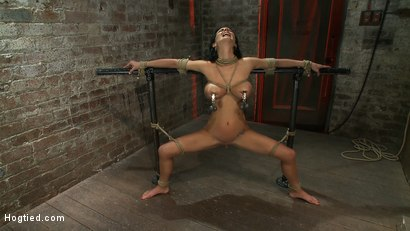 Photo number 5 from Sexy thin girl with huge boobs has massive orgasms<br>while neck rope slowly chokes her almost out. shot for Hogtied on Kink.com. Featuring Bailey Brooks in hardcore BDSM & Fetish porn.