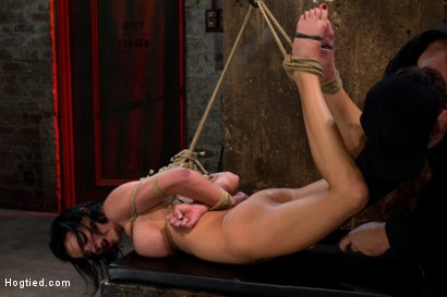 Photo number 8 from  Massive brutal orgasms mixed with foot torture, screaming & cumming, non-stop.<br>Pain & pleasure! shot for Hogtied on Kink.com. Featuring Bailey Brooks in hardcore BDSM & Fetish porn.