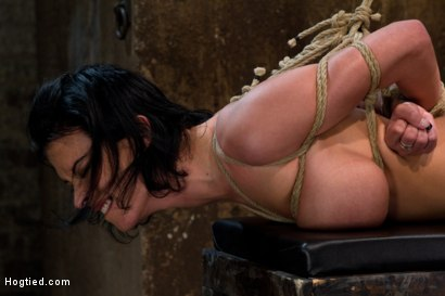 Photo number 9 from  Massive brutal orgasms mixed with foot torture, screaming & cumming, non-stop.<br>Pain & pleasure! shot for Hogtied on Kink.com. Featuring Bailey Brooks in hardcore BDSM & Fetish porn.