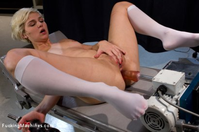 Photo number 11 from Don't Make A Sound You Screamer: Sexual Games with the Horny shot for Fucking Machines on Kink.com. Featuring Chloe Camilla in hardcore BDSM & Fetish porn.