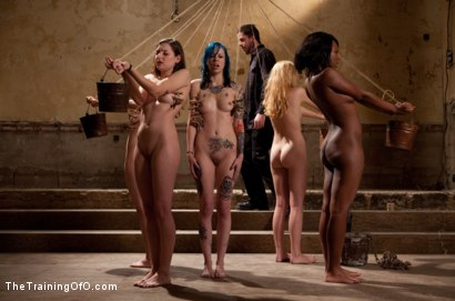 Photo number 4 from Day 2 Final Two Slaves shot for The Training Of O on Kink.com. Featuring Iona Grace, Krysta Kaos, Coffee Brown, Emma Haize and Missy Minks in hardcore BDSM & Fetish porn.