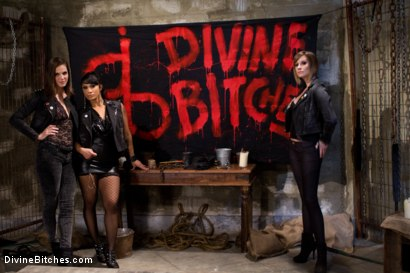 Photo number 2 from A Man With Three Balls Means One For Each Domme! shot for Divine Bitches on Kink.com. Featuring Bobbi Starr, DragonLily, Maitresse Madeline Marlowe  and Chris Tyler in hardcore BDSM & Fetish porn.