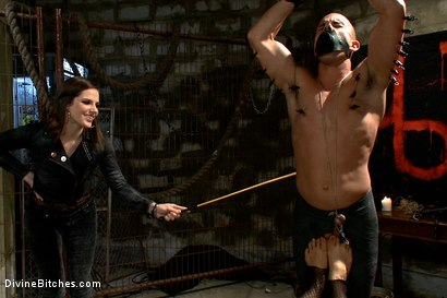 Photo number 10 from A Man With Three Balls Means One For Each Domme! shot for Divine Bitches on Kink.com. Featuring Bobbi Starr, DragonLily, Maitresse Madeline Marlowe  and Chris Tyler in hardcore BDSM & Fetish porn.
