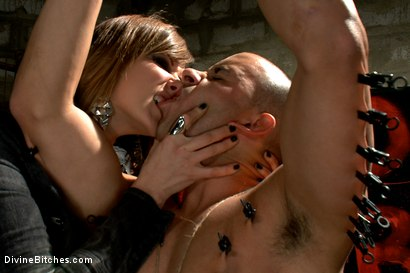 Photo number 9 from A Man With Three Balls Means One For Each Domme! shot for Divine Bitches on Kink.com. Featuring Bobbi Starr, DragonLily, Maitresse Madeline Marlowe and Chris Tyler in hardcore BDSM & Fetish porn.