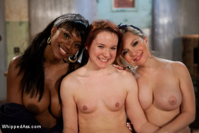 Photo number 11 from Cute red head plucked off the street hung upside down and double penetrated! shot for Whipped Ass on Kink.com. Featuring Nyomi Banxxx, Aiden Starr, Maitresse Madeline Marlowe  and AnnaBelle Lee in hardcore BDSM & Fetish porn.